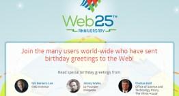 El mundo celebra los 25 años de internet #Web25