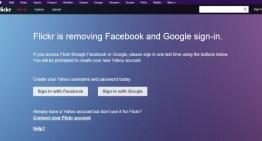 A partir del 30 de junio ya no podrás ingresar a Flickr con tus cuentas de Google o Facebook