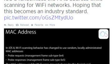 iOS 8 cuenta con una característica para proteger la privacidad de los usuarios