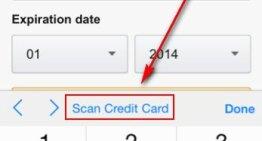 iOS 8 permite escanear tarjetas de crédito con la cámara del iPhone
