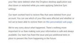 Por una equivocación, Dropbox borra los archivos de algunos usuarios
