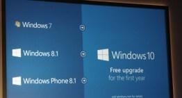 Windows 10 será gratuito para los usuarios de Windows 8.1 y Windows 7