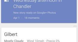 Comienzan a aparecer las Historias de Google+ en las tarjetas de Google Now