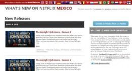 whatsnewonnetflix, el sitio para estar siempre actualizado con las novedades de Netflix en tu país