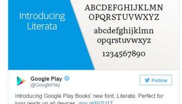 Literata, una nueva tipografía para los libros de Google Play