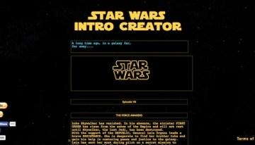 Star Wars Intro Creator, sitio web para generar tu propia introducción al estilo Star Wars