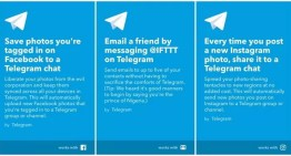 IFTTT ya ofrece applets para Telegram