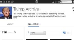 Trump Archive, sitio web que registra todo los dicho de forma pública por Donald Trump