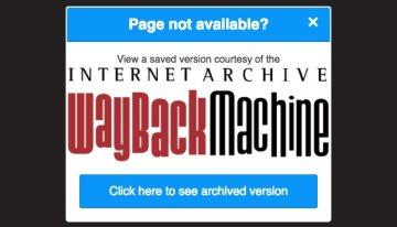 Wayback Machine estrena plugin para Chrome