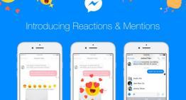 Facebook Messenger ahora cuenta con reacciones con emojis y menciones de usuarios