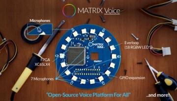 Matrix Voice, un gadget de reconocimiento de voz listo para el Internet de las Cosas