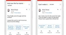 Las versiones móviles de GMail tendrán funciones para generar respuestas inteligentes