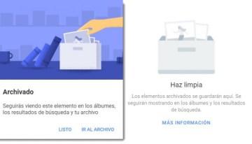 Google Fotos ahora permite mover las fotografías para archivarlas