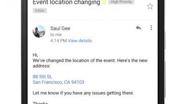 Enlaces a direcciones, contactos y números de teléfono ya están disponibles en Gmail