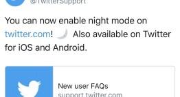 El modo nocturno para web ya está disponible en Twitter