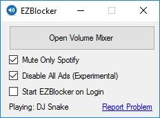 EZBlocker, herramienta que bloquea los anuncios en Spotify