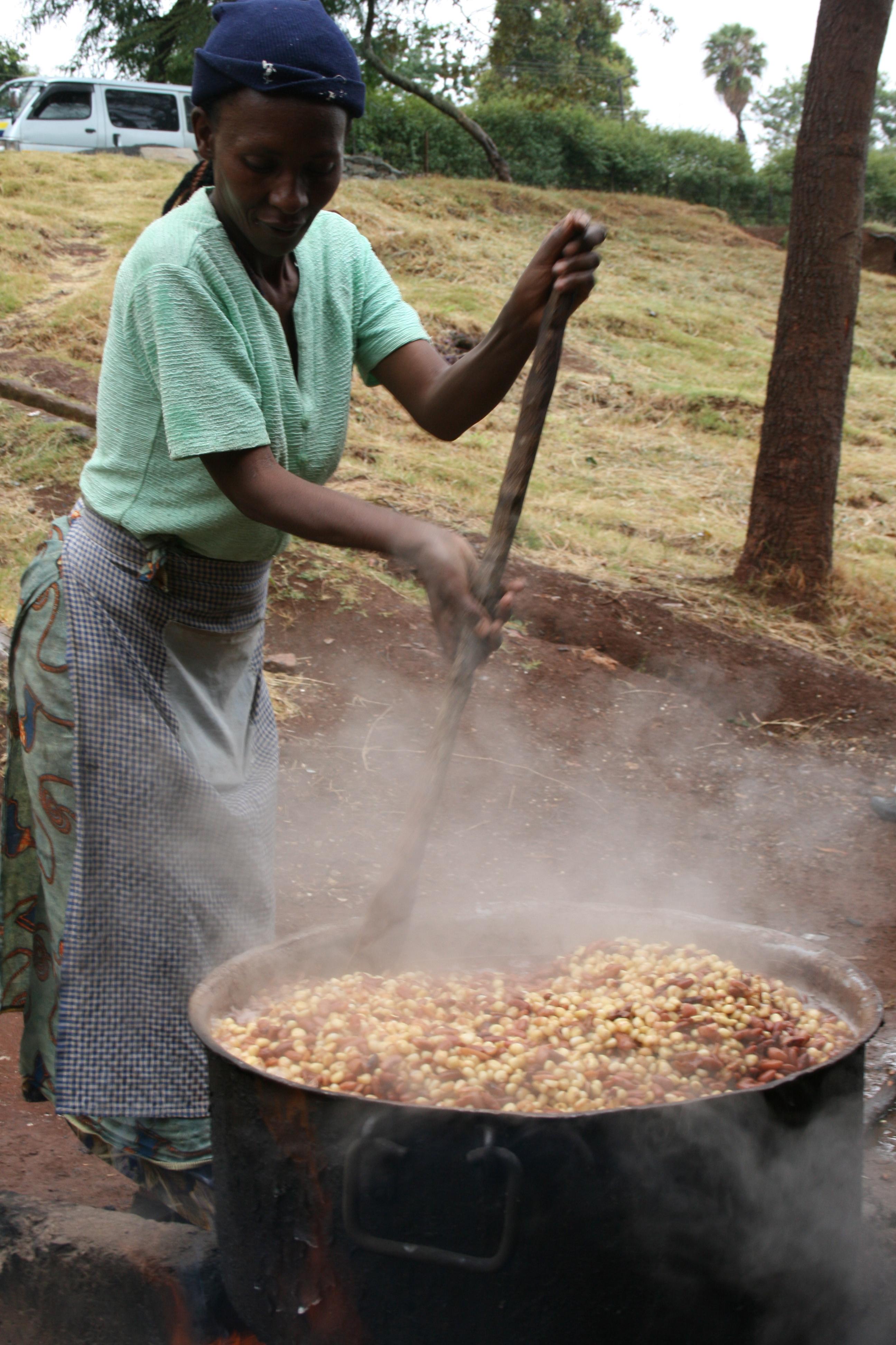 Food service at a school in Kenya.