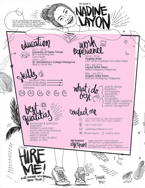 50 Simple & Creative Resume CV Design Ideas Examples