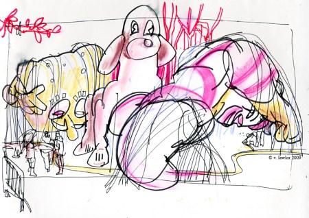 SpongeBob, dog & Ronald