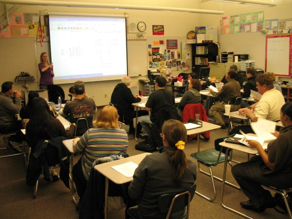 Wells Middle School Launches Parent Math Nights