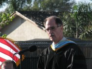 Dr. Hanke at Valley High School Commencement