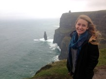 Rebecca at the Cliffs of Moher Ireland