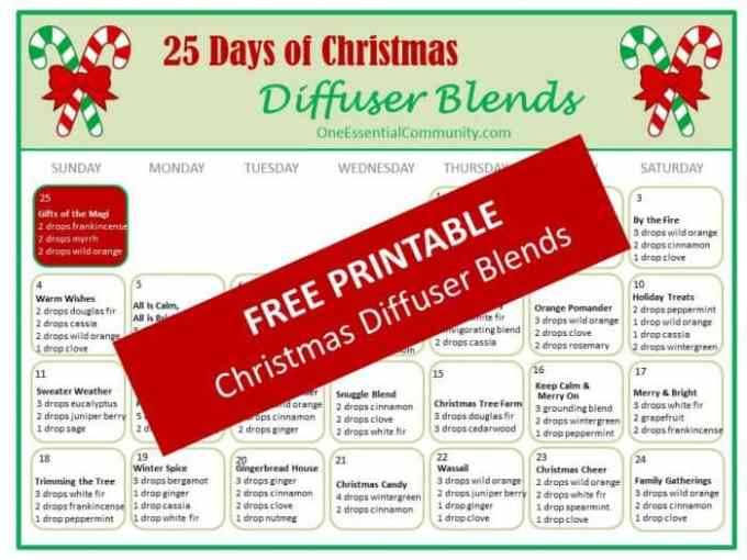 25 best christmas diffuser blends one essential community