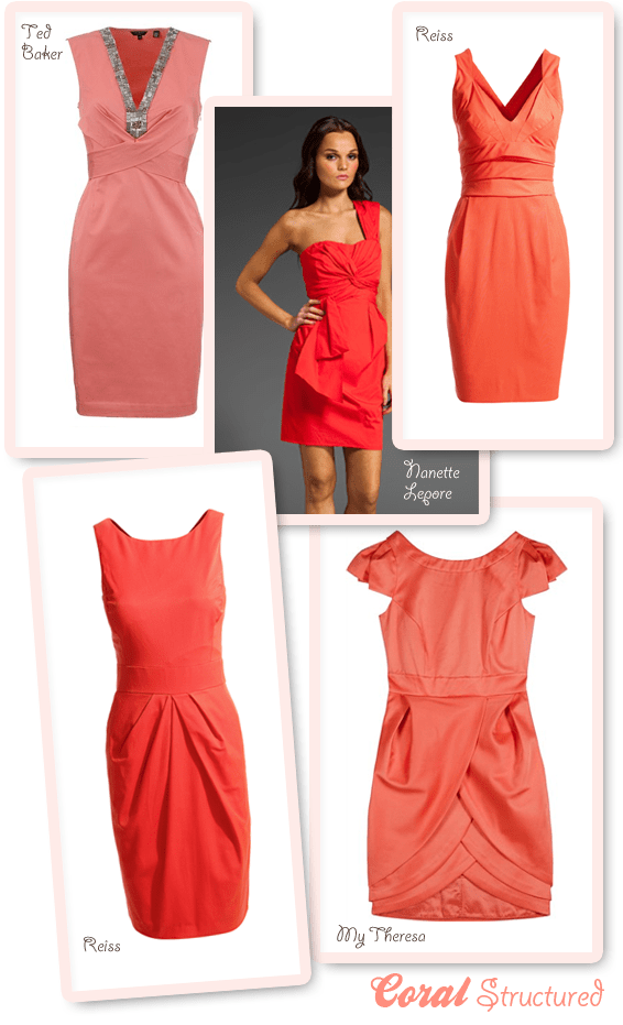 Coral Bridesmaids  Coral Wedding Guest Dresses