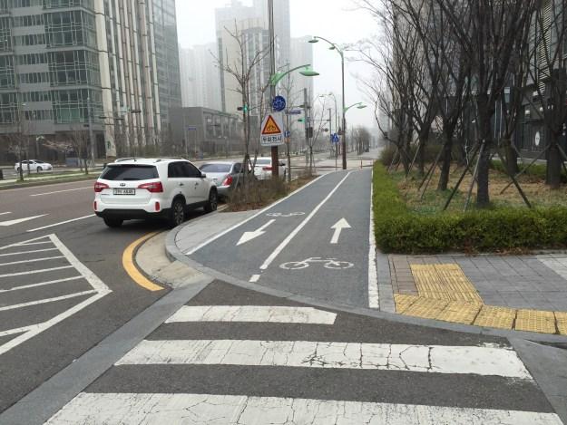 仁川市内の自転車専用道路