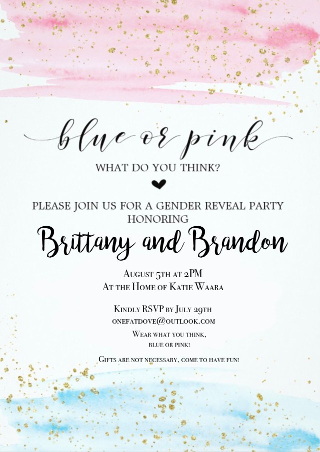 Front of B&B Gender Reveal Party