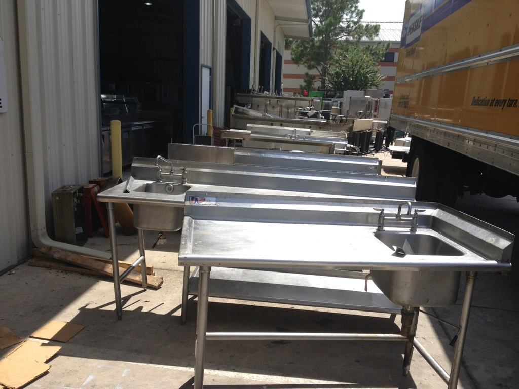 kitchen equipment used rustic outdoor kitchens unloading miles of restaurant one fat frog