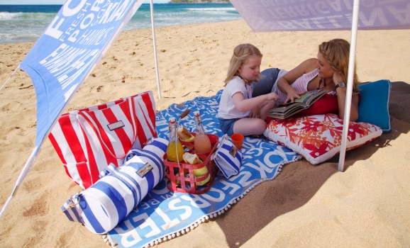 AUSSIE BEACHES SUNSHADE, THROW & BAG PB BEACH 3