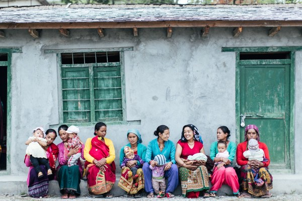 Mothers and babies in Jaljala, Nepal.
