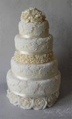 Csipkés torta/ White lace cake Forrás: http://www.wedmepretty.com/oh-my-lace-love/
