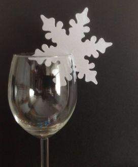 Téli hópehely ültetőkártya / Winter snowflake place cards Forrás:http://www.ebay.co.uk