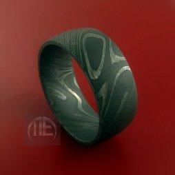 Damaszkuszi acél gyűrű , Damascus steel ring Forrás:http://www.etsy.com