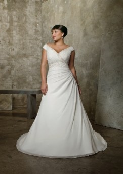 Empire derékvonalú plus size menyasszonyi ruha / Empire waist plus size wedding dress Forrás:http://www.starrydresses.com