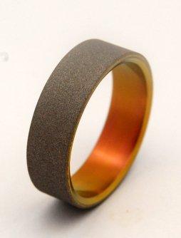 Homokfúvott titánium gyűrű , Sandblasted wedding band Forrás:http://www.etsy.com
