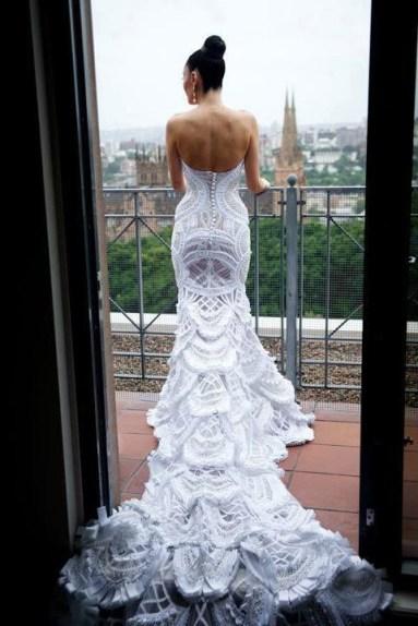 Horgolt menyasszonyi ruha 3/ Crocheted wedding dress 3 Forrás:http://www.knittingparadise.com