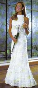 Horgolt menyasszonyi ruha 9/ Crocheted wedding dress 9 Forrás:http://ganchilloydosagujaspatterns.blogspot.hu