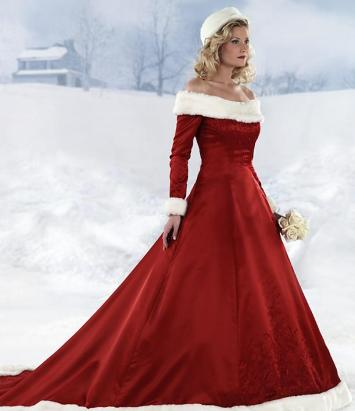 Mikulás menyasszonyi ruha 2, Mrs.Claus wedding gown 2 Forrás:www.goingbridal.com