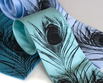 Pávatollas nyakkendő, Peacock Tie Forrás:http://www.etsy.com