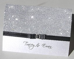 Csillogó ezüst esküvői meghívó , Silver glitter wedding invitation Forrás:http://bonniecarterphotography.com/