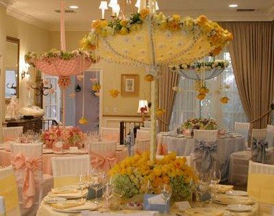 Esernyős asztaldekoráció , Umbrella table decoration Forrás:http://www.bashcorner.com/