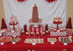 Karácsonyi borsmentacukor asztal , Christmas peppermint table Forrás:http://www.etsy.com