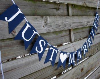 Tengerészkék esküvői zászló Navy blue wedding banner Forrás:http://www.etsy.com/