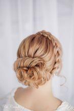 Fonott menyasszonyi frizura 19 Bridal hair braids 19 www.elstile.ru