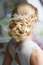 Fonott menyasszonyi frizura 2 , Bridal hair braids 2 Forrás:www.elstile.ru