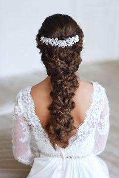 Fonott menyasszonyi frizura 5 , Bridal hair braids 5 Forrás:www.elstile.ru
