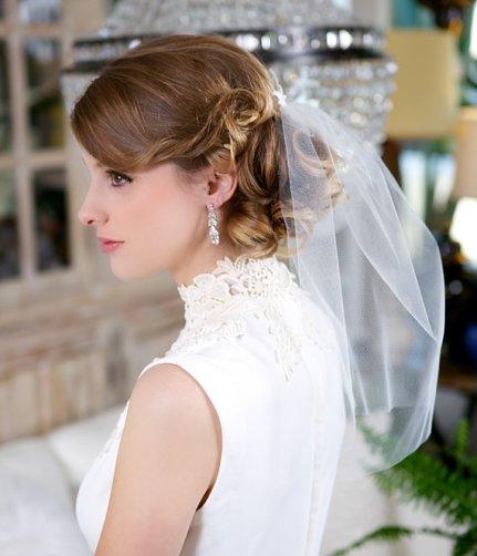Menyasszonyi frizura fátyollal 13 , Bridal hairstyles with veil 13 Forrás:http://www.etsy.com